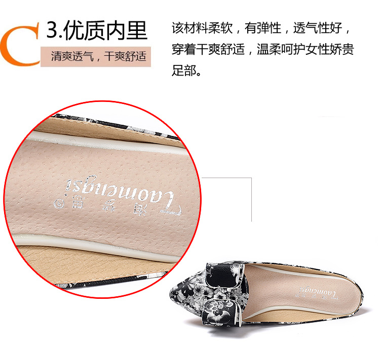 Summer Style Retro Flat Sandals Casual Women Sandal Ladies Flat Shoes Pointed Toe Printed Slippers Plus Size 33-43
