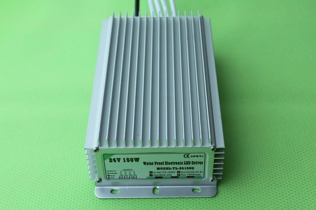 waterproof led power supply;AC90-250V input; 24V/150W output;IP68;CE and ROHS;