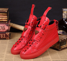 Mohr Patrick the highest version of the shoes red shoes Yeezy high to help men's shoes with(China (Mainland))
