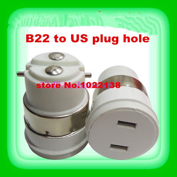 10pcs B22 to plug Light Bulbs base Lamp Adapter Converter B22 to south American plug lamp holder Adapter socket(China (Mainland))