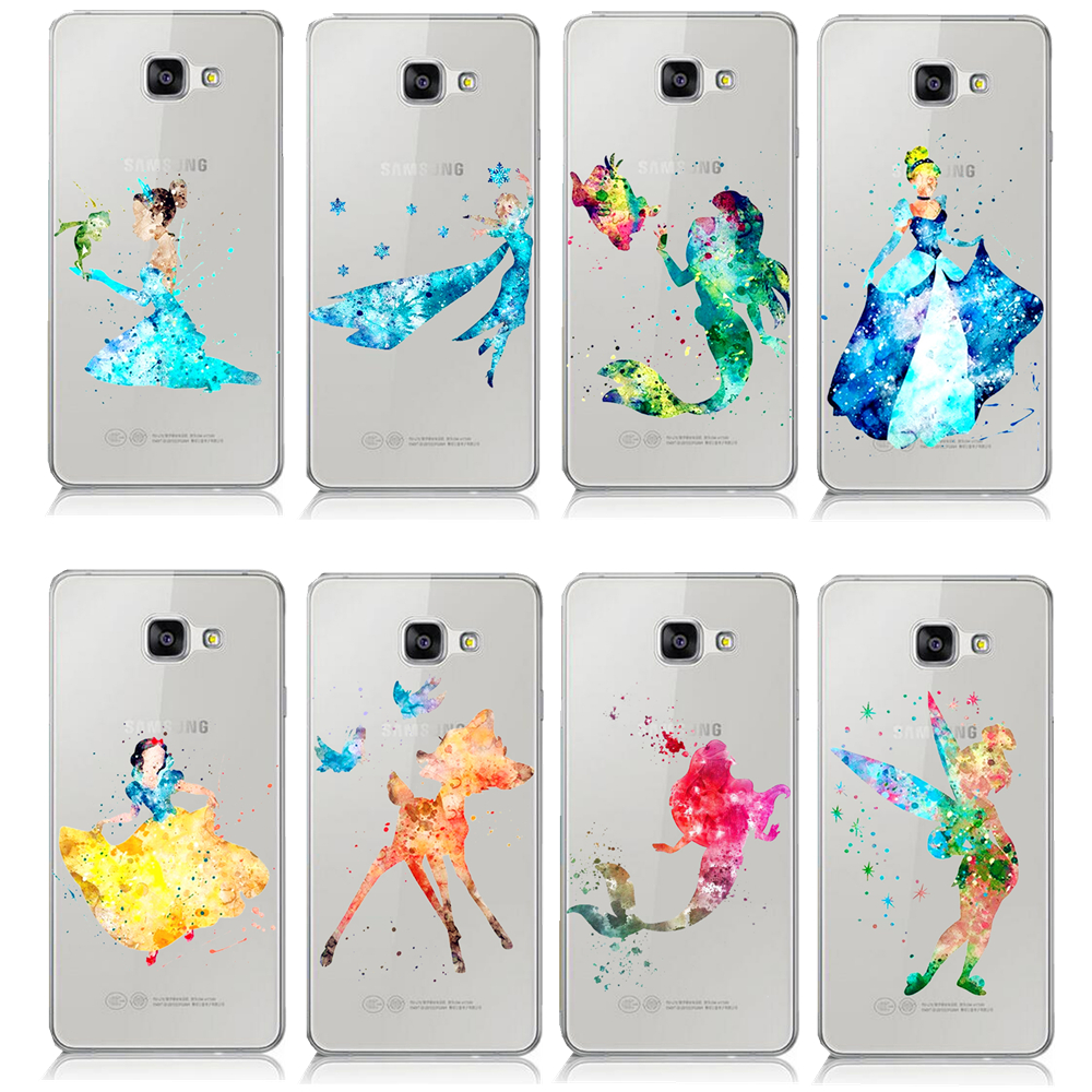 Cartoon animal ariel little mermaid watercolor case for for Housse samsung a3