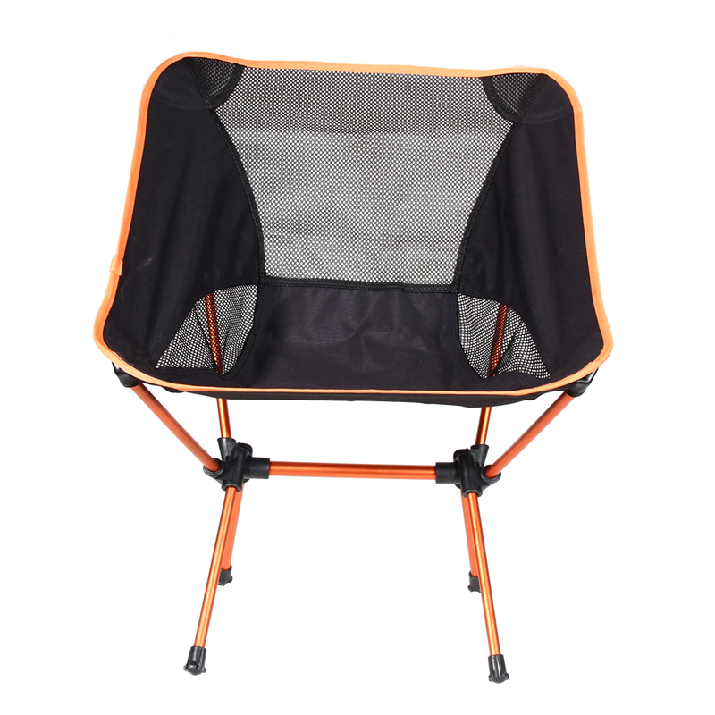 Portable Light weight Folding Camping Stool Four Feet Chair Seat For Fishing Festival Picnic BBQ Beach With Bag Orange(China (Mainland))
