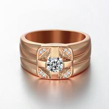 R120-B-8 High Quality Nickle Free Antiallergic New Fashion Jewelry  Plated zircon Ring hot(China (Mainland))
