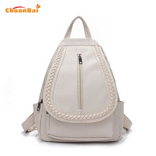 Buy Hot Women Backpacks High PU Leather Black Canvas Backpack Children Backpacks School Bags Weave Back Pack Tote Bag CBP229 for $32.40 in AliExpress store