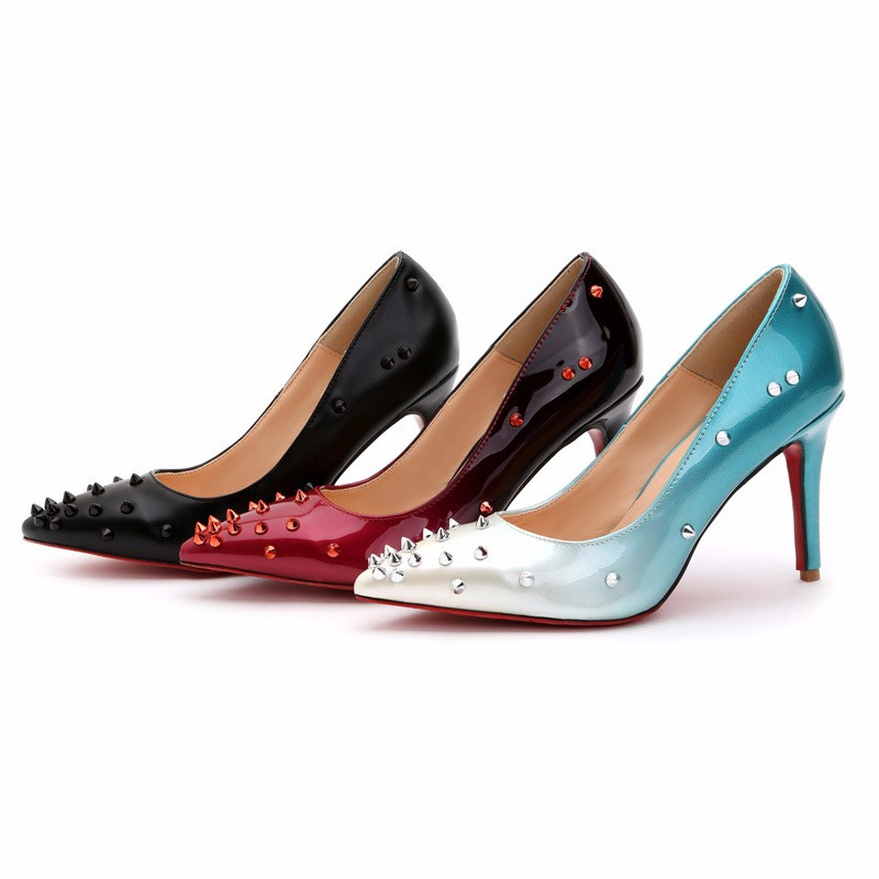 2016 Spring Summer Revits Style Sexy Pointed Toe Shallow Mouth Women Pumps High-heeled Women Single Shoes Plus Size 35-43 P3.5