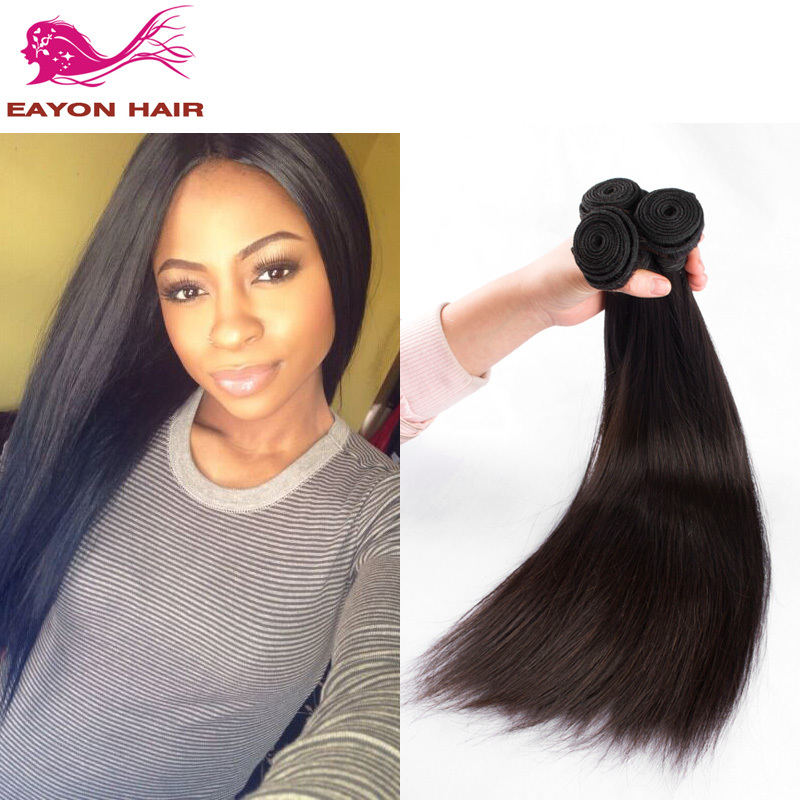 Eayon Hair Products 7A Peruvian Virgin Hair Straight 3 Bundles a Lot Unprocessed Virgin Human Hair Weave Very Thick & Soft