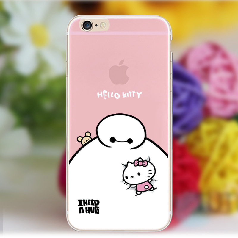 5.5inch Warm gift colored drawing TPU Case shell for iphone 6 plus cases Slim Back Protect Skin silica gel cover.free shipping.(China (Mainland))