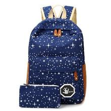 2016 Hot Sale Canvas Women backpack Big Capacity School Bags For Teenagers Printing Backpacks For Girls Mochila Escolar CB189(China (Mainland))