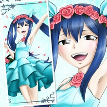 45X95CM Mashima Hiro FAIRY TAIL wendy marvell loli Japan cartoon anime wall picture mural scroll cloth canvas painting poster