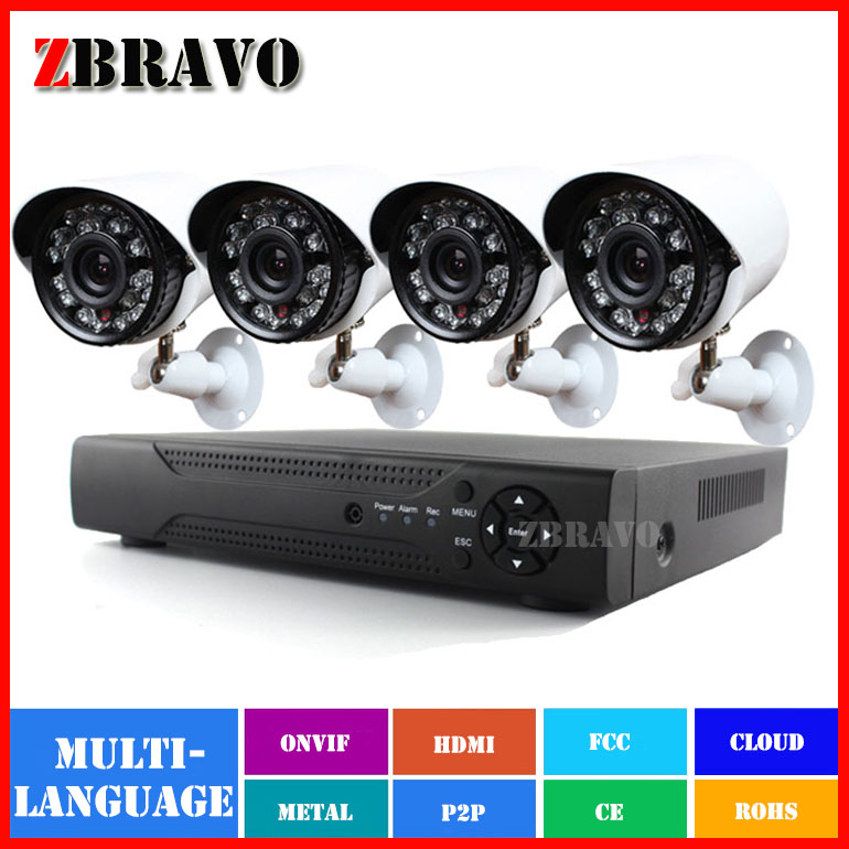 4CH CCTV System 720P HDMI AHD CCTV DVR 4PCS 1.0MP IR Outdoor Security Camera AHD AHDM DVR Kit 1200TVL Camera Surveillance System<br><br>Aliexpress