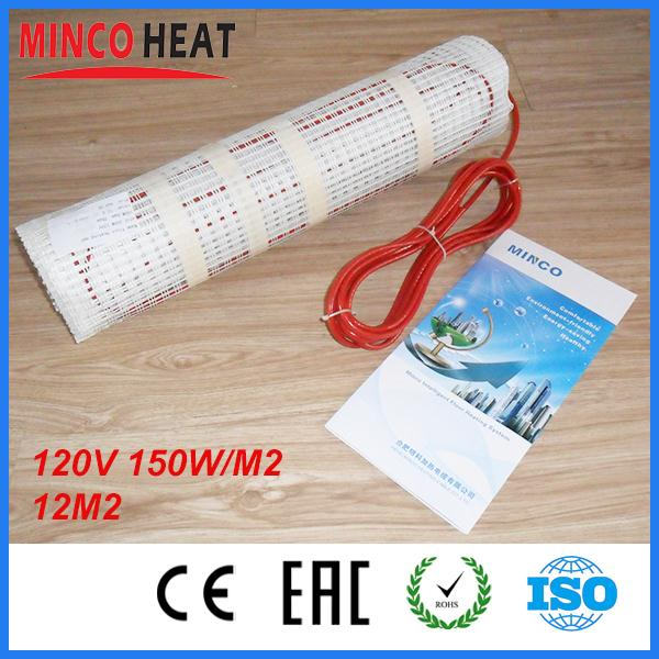 12M2 120v 150W/M2 Dual Core Teflon Floor Heating Mat<br><br>Aliexpress