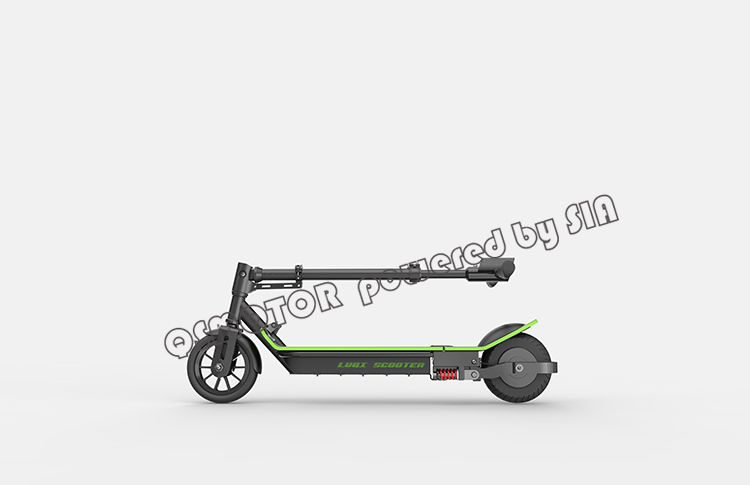 8inch 350W 36V 30KPH brushless motor folding 2 wheel stand up electric kick foot scooter for adult(China (Mainland))