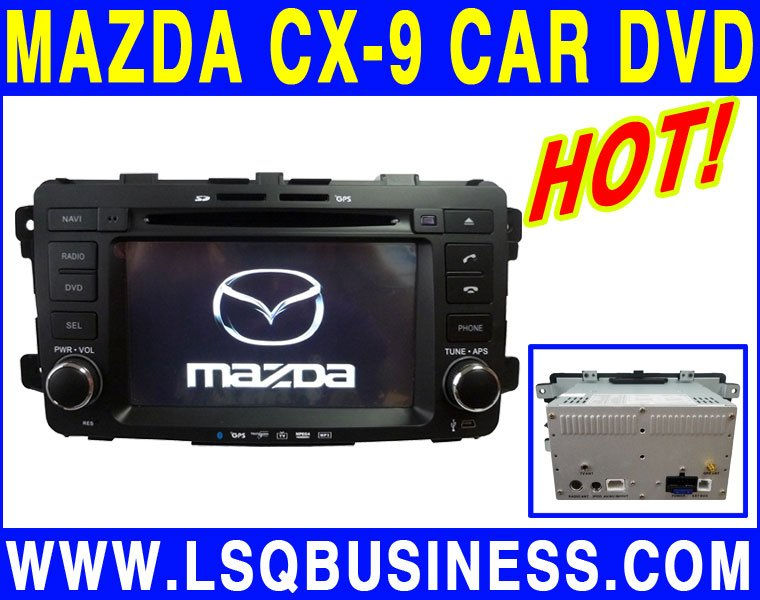 lsqstar mazda cx-9 car dvd gps wholesale with bluetooth+ipod+bose amplifer+canbus+radio+steering wheel control Hot selling!(China (Mainland))