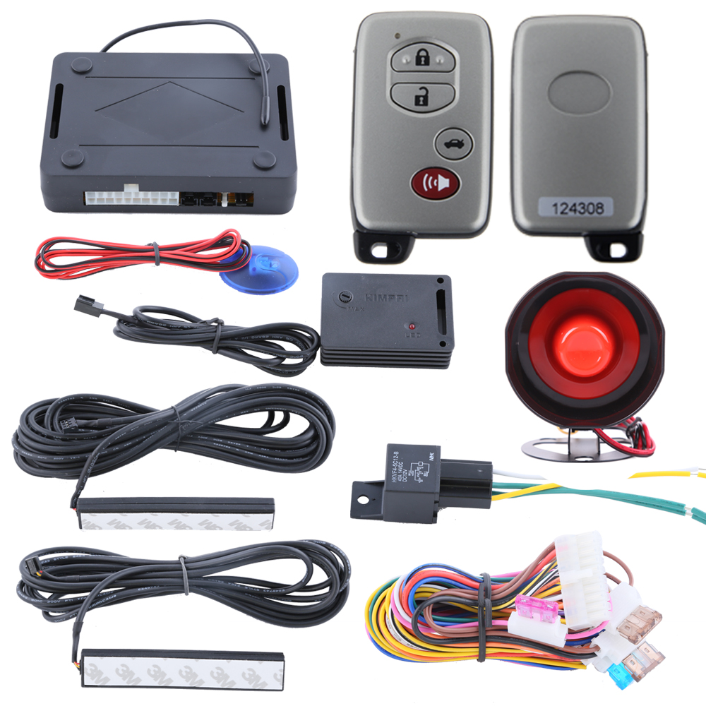 Hopping code PKE car alarm system with passive keyless entry kit automatic owner identify power window output release trunk(China (Mainland))