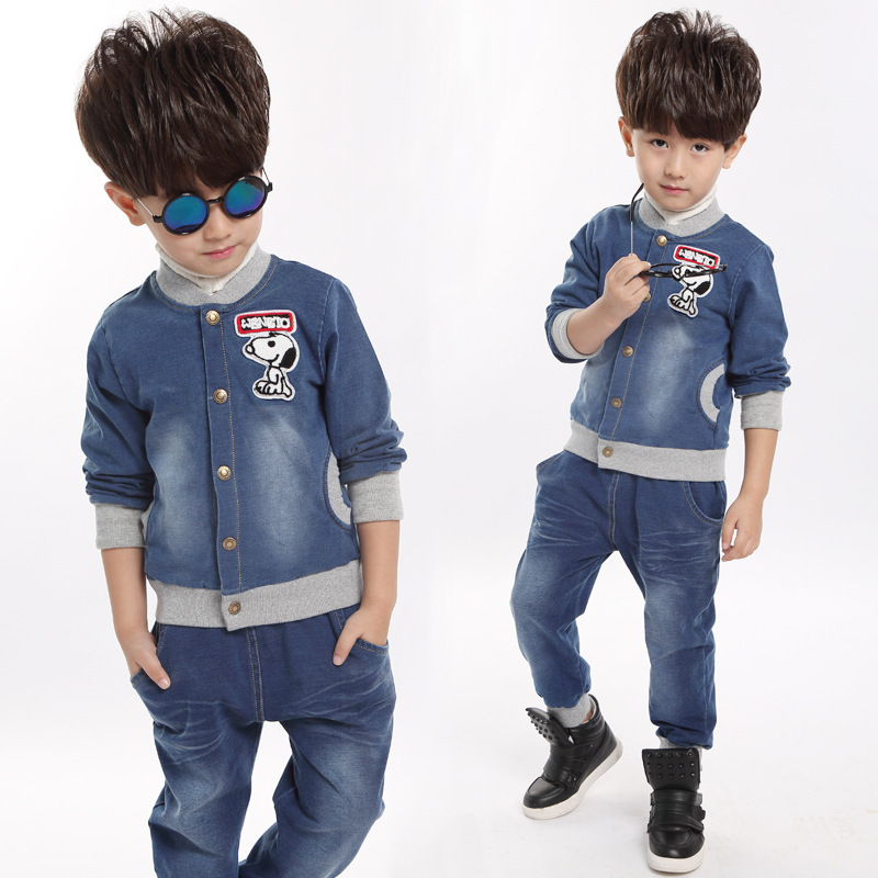 Baby Clothes High Quality Denim Children Clothing Jacket + Jeans 2Pcs Kids Clothes Autumn Spring Cute Toddler Boys Clothing Sets<br><br>Aliexpress