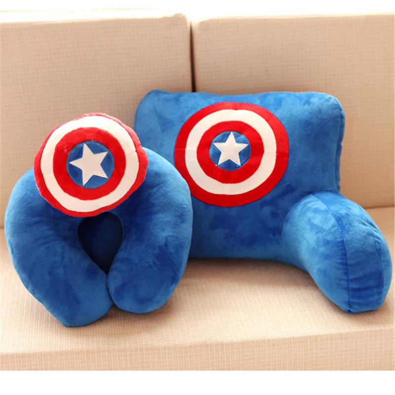 Funny Cartoon Office Back Cushion Headrest Chair And Sofa U Shape Pillow Super Man(China (Mainland))