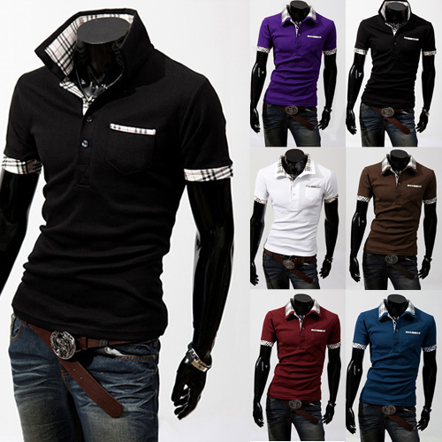 Hot Selling Fashion Men's T-Shirts Cool Men's Brand T-shirts Casual Slim Fit Stylish T-shirts Cool Men's Clothing 6 Colors M-XXL