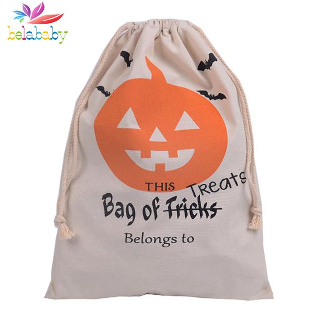 Belababy 2016 Хэллоуин подарки холщовый мешок Пасхальные конфеты drawstring сумка ...