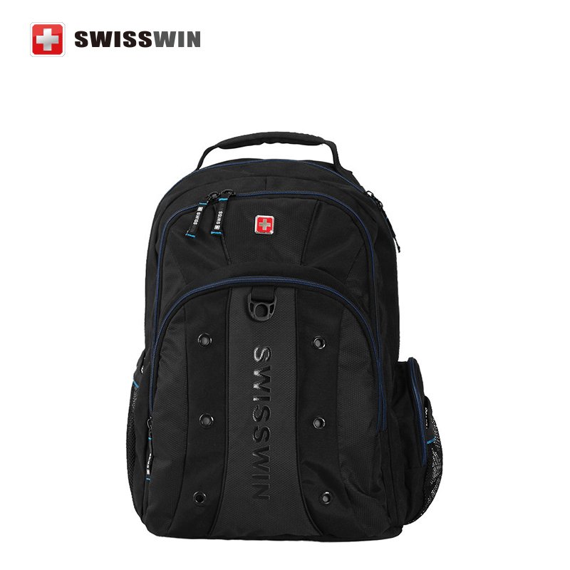Swisswin High quality 12-15 Inch Laptop Backpack SWBC007 Multi-Pocket Backpack For Business Computer Bag Mochila(China (Mainland))
