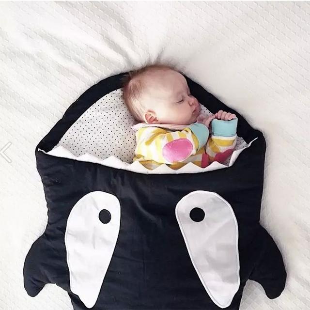 Ребенок мультфильм акула спальный мешок высокое качество хлопок детская коляска мешок ...