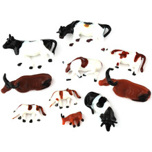 10pcs  Ho scale animals 1:87 for Model train layout ( Cow ) New(China (Mainland))