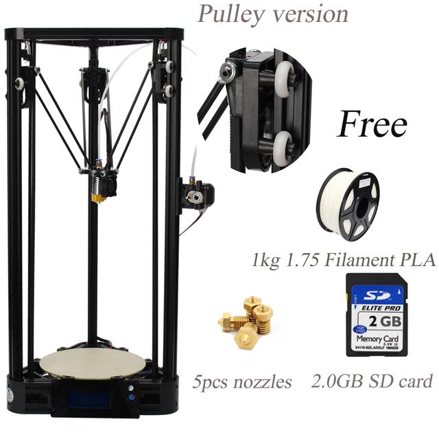 3d-металл Принтер Коссель Шкив Большой Размер Печати 3d-принтер Дельта Комплект С 1 КГ Нити + 5 шт. насадки + 2 ГБ SD карту бесплатно