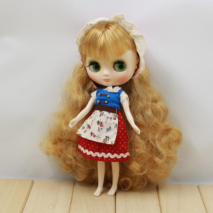 Free shipping cost Middle blyth ,blonde long hair (FSMB-047 )(China (Mainland))