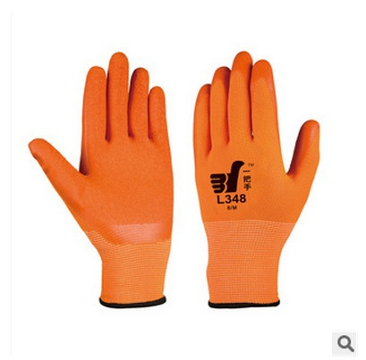 The new 2015 dipped nylon polyester palm working gloves antiskid cut labor insurance gloves, protective gloves