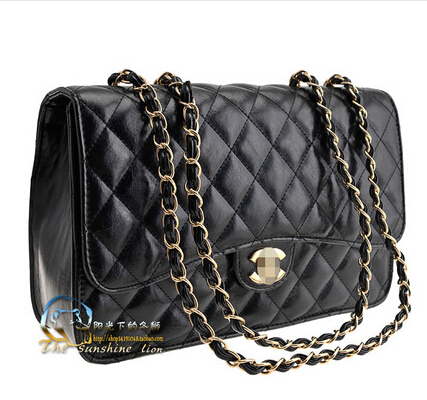 2015 brand chain designer handbag Women's Double Flap Bag Quilted lambskin Flap chain plaid tote shoulder messenger Bag(China (Mainland))