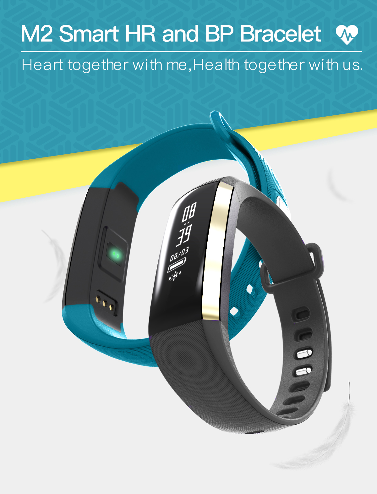 ถูก เดิมM2สมาร์ทวงนหัวใจความดันโลหิตออกซิเจนOximeterกีฬาสร้อยข้อมือนาฬิกานาฬิกาInteligente P UlsoสำหรับiOS A Ndroidผู้ชาย