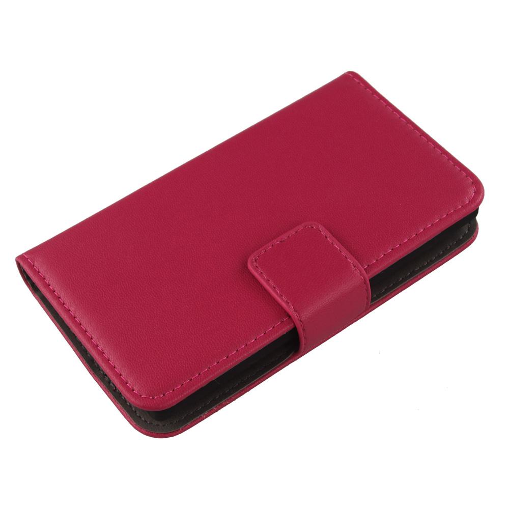 Exyuan Fashion Pop Genuine Leather Cover Flip Card Slots Mobile Phone Case For BQ Aquaris U Plus 5''(China (Mainland))