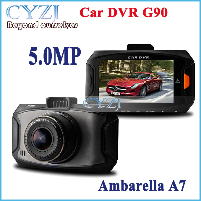 G90 CAR DVR 5 .0mp camera Ambarella A7 Dash cam Full HD 2.7' LCD 170 Wide angle Lens HDR G-Sensor video recorder car black box(China (Mainland))