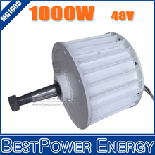 HOT SALE!! 1000W AC24V/48V 3 Phase AC Low rpm Permanent Magnet Alternator, Max Power 1500W Generators for Wind Turbine(China (Mainland))
