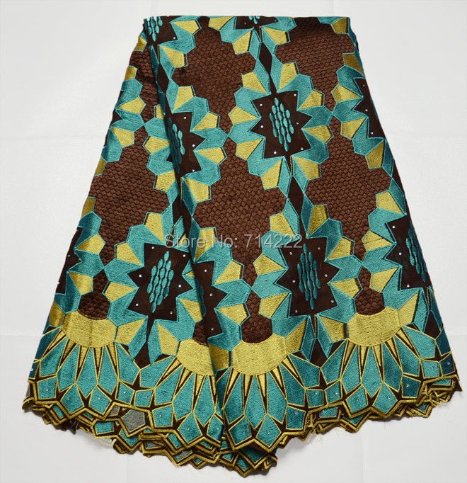 China supplier 2016 New arrival 100% cotton teal yellow coffee african swiss voile lace high quality with stones for dress SV12(China (Mainland))