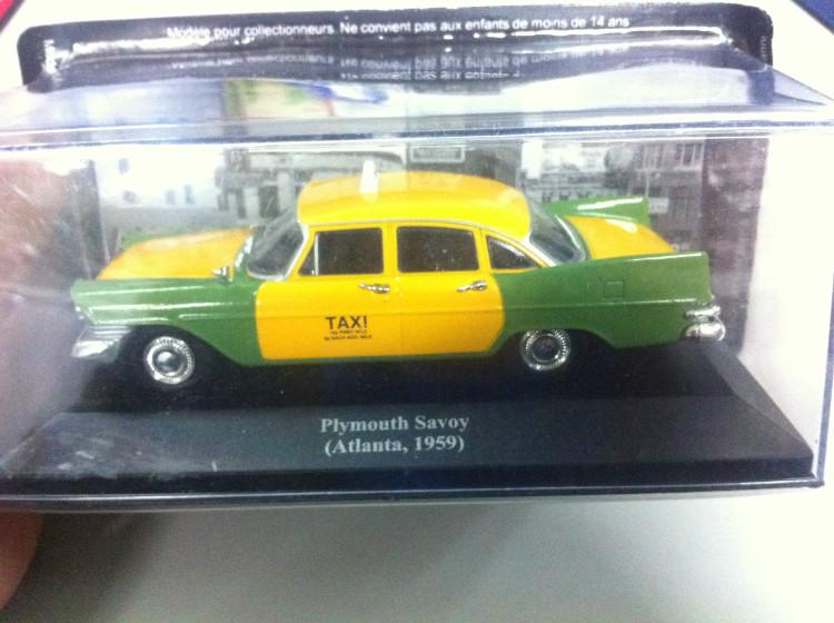 1:43 IXO taxi Savoy Atlanta Plymouth 1959(China (Mainland))