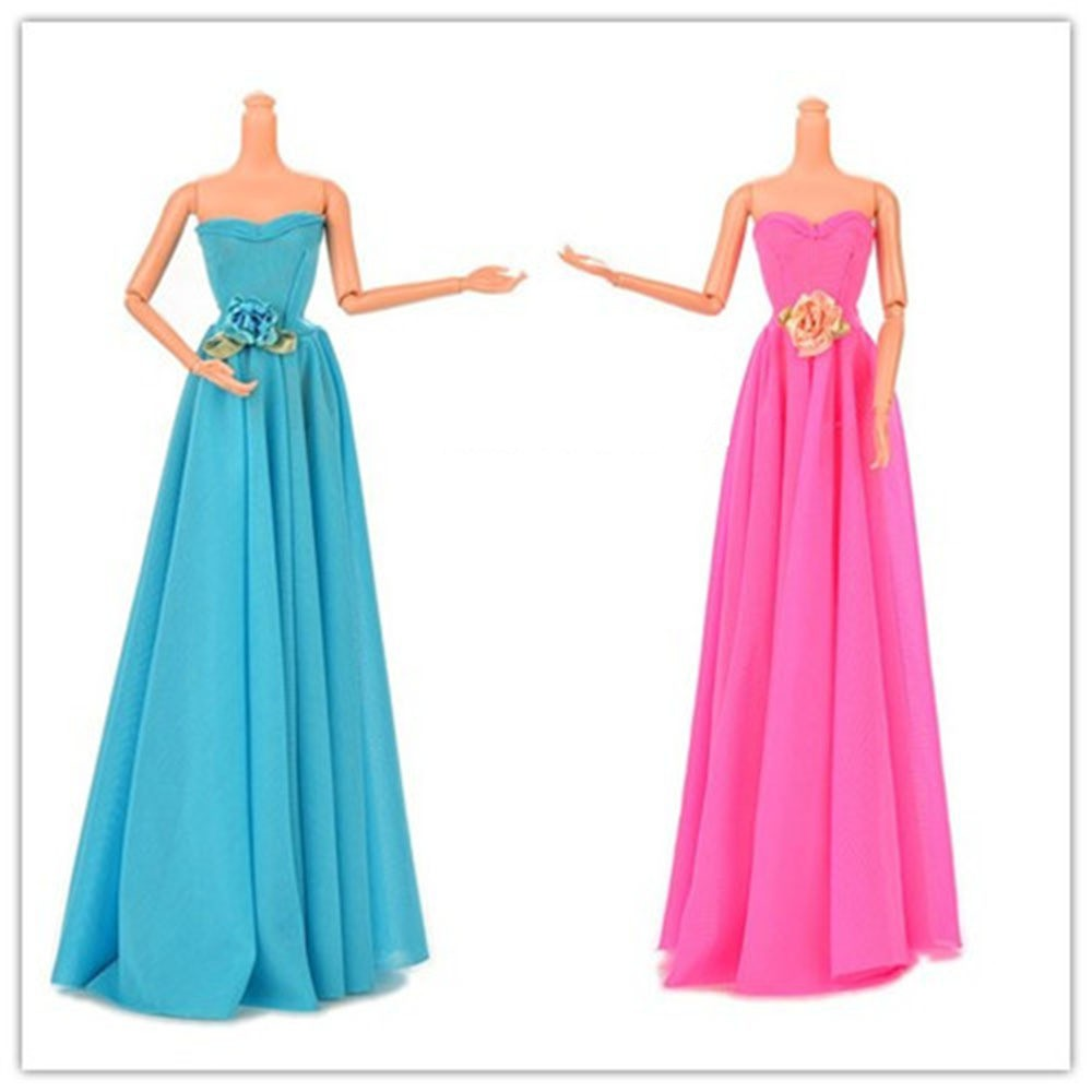 Free Delivery 1set Night Celebration Marriage ceremony Gown For Barbie Doll ,toys for women reward,garments outfit for barbie doll