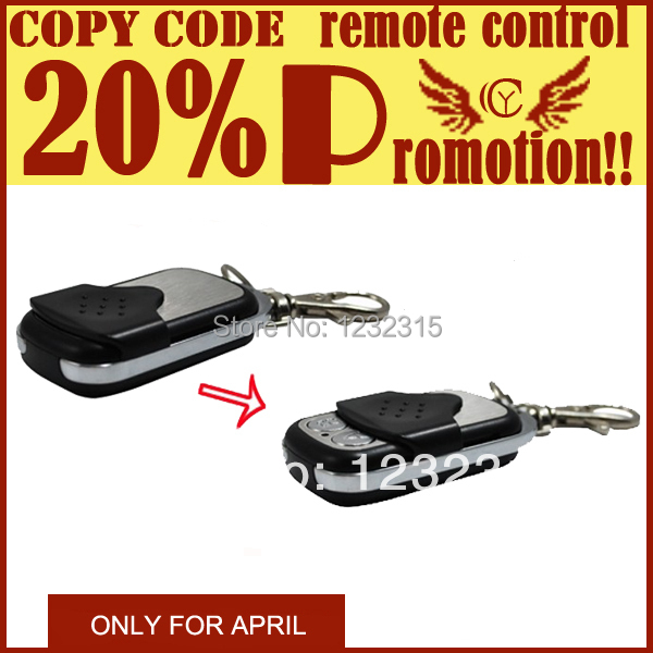 [Factory] Duplicate remote control Face to Face Copy Remote Control COPY CODE metal Remote control 433MHz(China (Mainland))