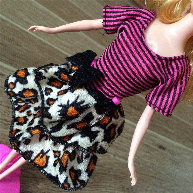 Free Delivery 2016 10units garments Combine Type Combine Colour garments night gown For Barbie Doll,Handmade Celebration Garments doll Costume