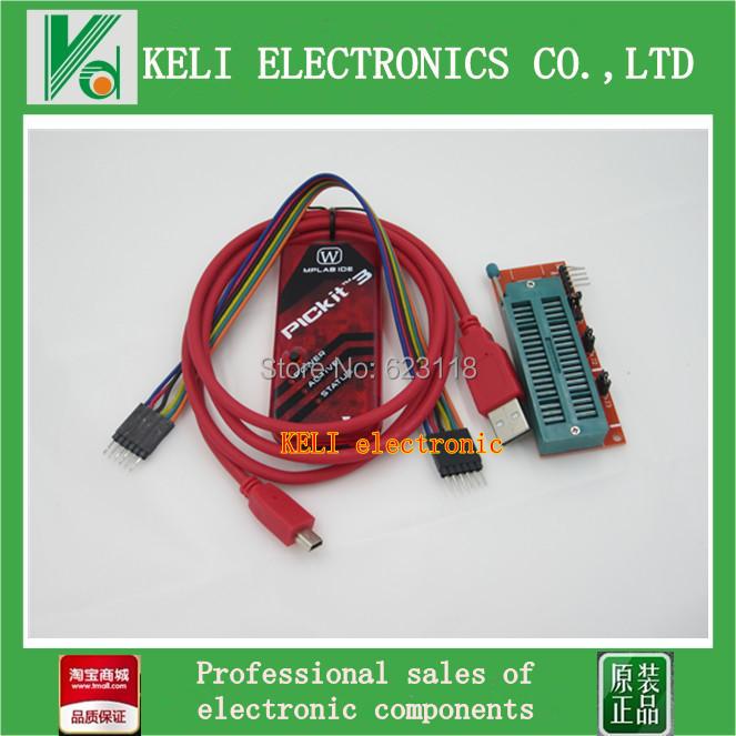 Free Shipping 1LOT=2PCS PICKIT3 Programmer + PIC ICD2 PICKit 2 PICKIT 3 Programming Adapter Universal Programmer Seat FZ0508(China (Mainland))