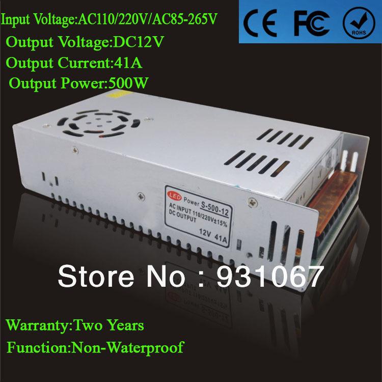 Импульсный блок питания Sun-Lite 500w 12V 41 Supply110/220 Led 1pcs/lot SL-500W-12V