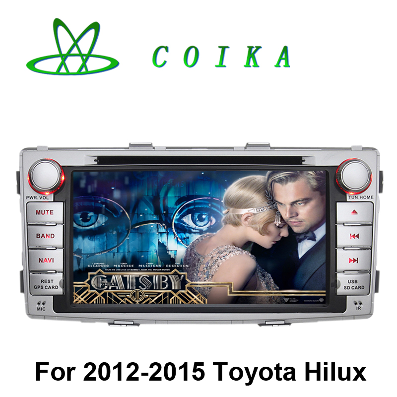 2016 Newest Android 5.1.1 Head Unit Car DVD Stereo For Toyota Hilux 2012-2015 GPS Navi Radio BT WIFI 3G OBD DVR RDS Phonebook(China (Mainland))
