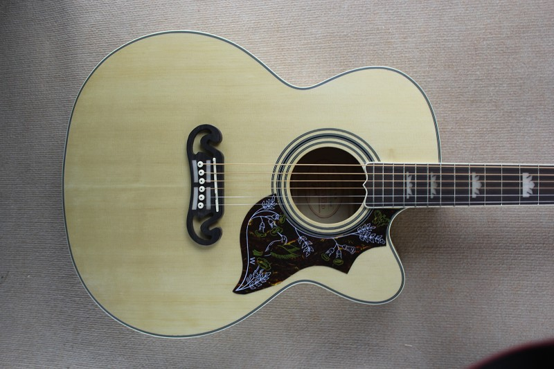 Chinese Guitar factory custom new Top Quality natural Spruce Top Hummingbird Acoustic Guitar With Fishman EQ Electric guitar 11(China (Mainland))