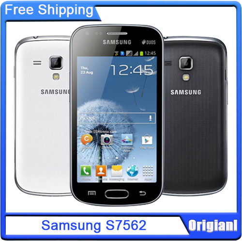 Original Samsung S7562 Galaxy S Duos Cell Phones 5 MP camera wifi GPS android 4.0 Dual sim cards Free shipping(China (Mainland))