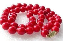 """New -7-8MM fashion natural red coral necklace 18""""(China (Mainland))"""