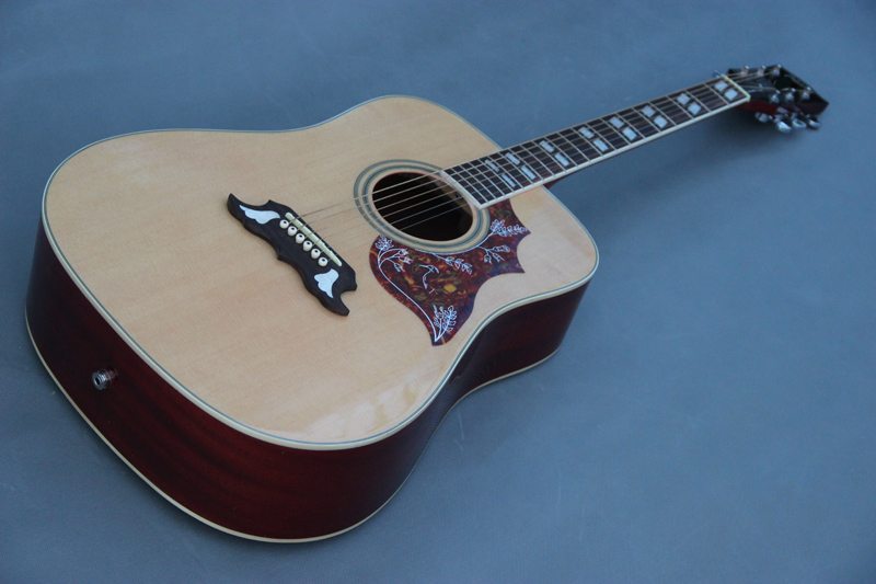 Custom guitar shop,41'' Dove acoustic guitar with solid spruce top,sapele back and side(China (Mainland))
