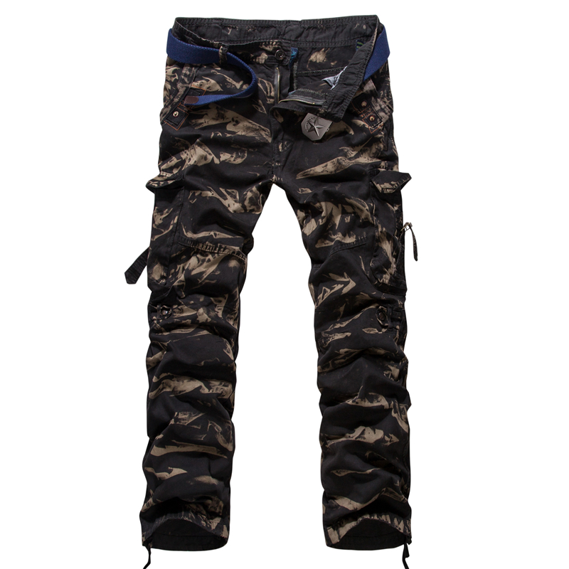 men cargo pants baggy cotton military camouflage trousers 6 colors 29-38 AG758  -  Baby Angel World Co,Ltd store