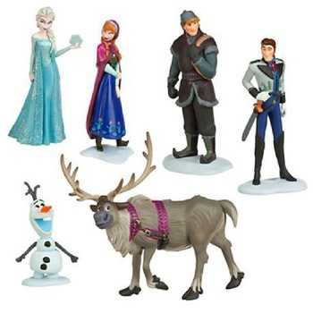 Free shipping Foreign Trade 6-piece set Action Play Set Anna Elsa Hans Kristoff Sven Olaf Pendant Doll Toys Snow Queen Figures<br><br>Aliexpress