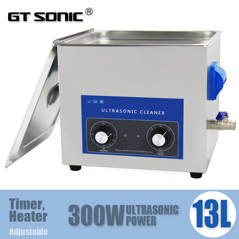 Industrial Stainless Steel Ultrasonic Cleaner 13L with timer and heater, with free basket VGT-2013QT made in China(China (Mainland))