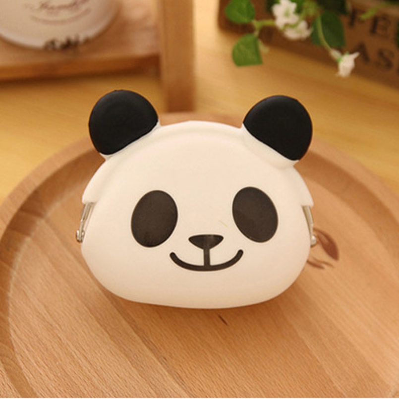 Excellent Quality Hot 3D kawaii Cute Cartoon Animal Silicone Coin Purse Wallet Rubber Purse Bags coin case kids wallet girls bag