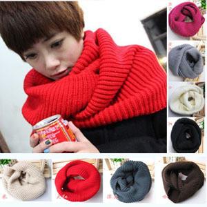 2013 winter warm set of head knitting scarves Woolen yarn women scarf Neck Wrap(China (Mainland))